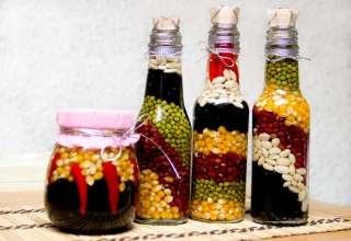 تزیین شیشه حبوبات عروس با ایده های خلاقانه