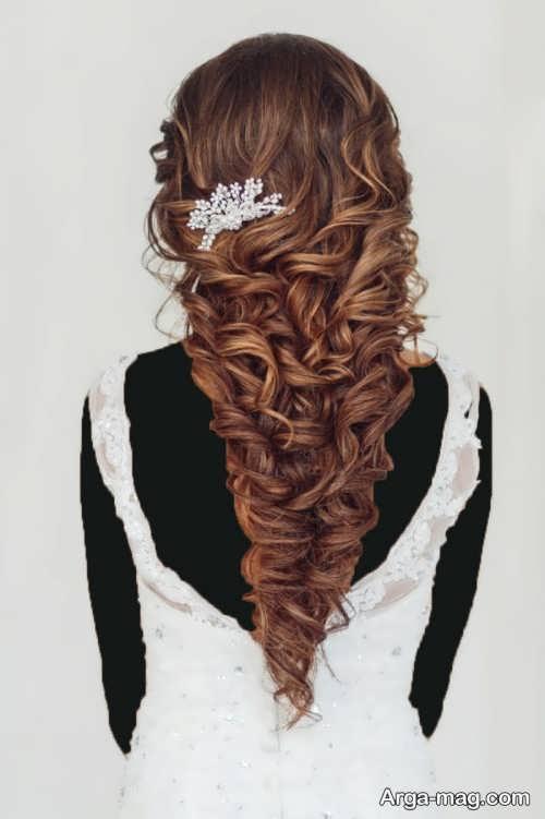 مدل آرایش موی نیمه باز
