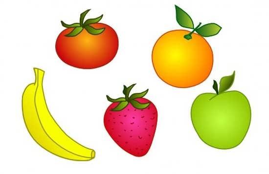 نقاشی انواع میوها