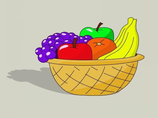 نقاشی میوه های مختلف و زیبا