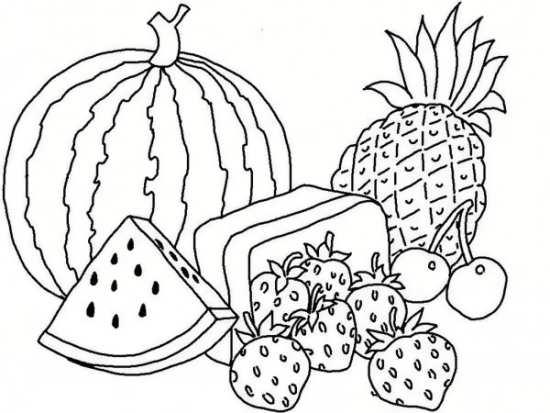 نقاشی میوه برای رنگ کردن کودکان