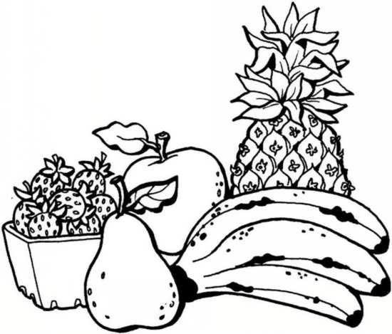 نقاشی آناناس و موز