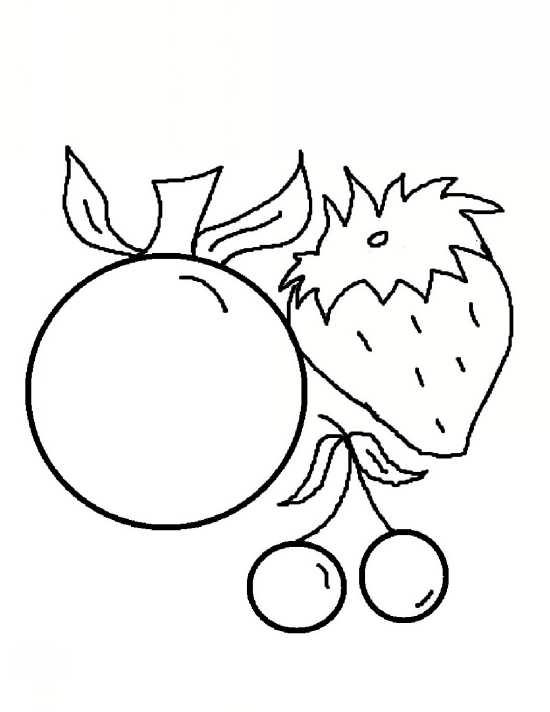 نقاشی گیلاس و توت فرنگی