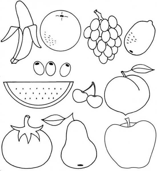نقاشی انواع میوه ها