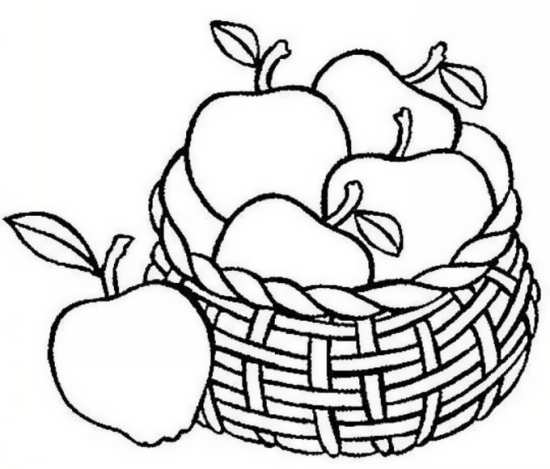 نقاشی سیب برای رنگ آمیزی کودکان