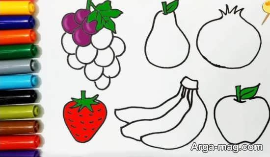 طراحی جالب و زیبا از میوه
