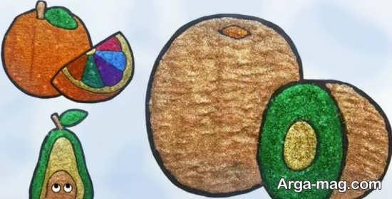 آموزش نقاشی مختلف میوه