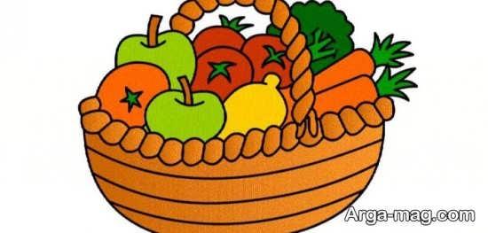 رنگ شدن میوه های مختلف برای کودکان