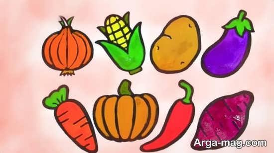 طراحی و رنگ آمیزی میوه