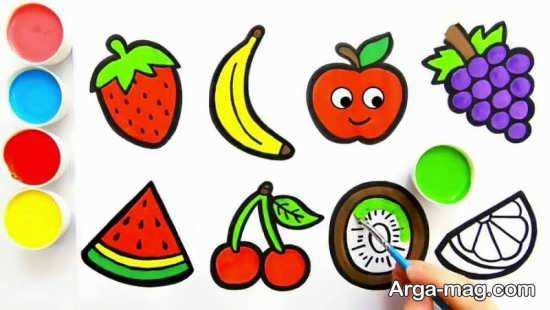 طراحی ساده میوه برای کودکان