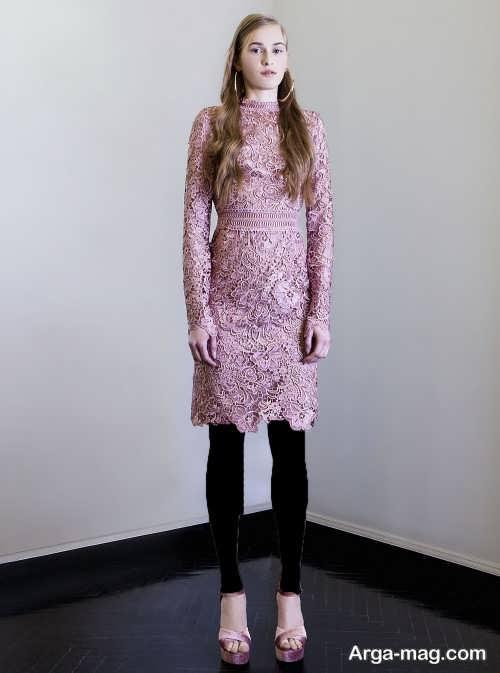 مدل پیراهن مجلسی گیپور دخترانه کوتاه و شیک