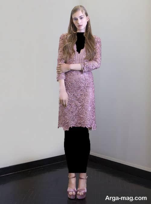 مدل زیبا و خاص لباس مجلسی گیپور