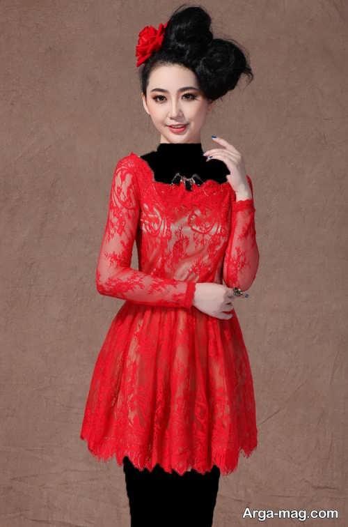 مدل لباس مجلسی کره ای گیپور