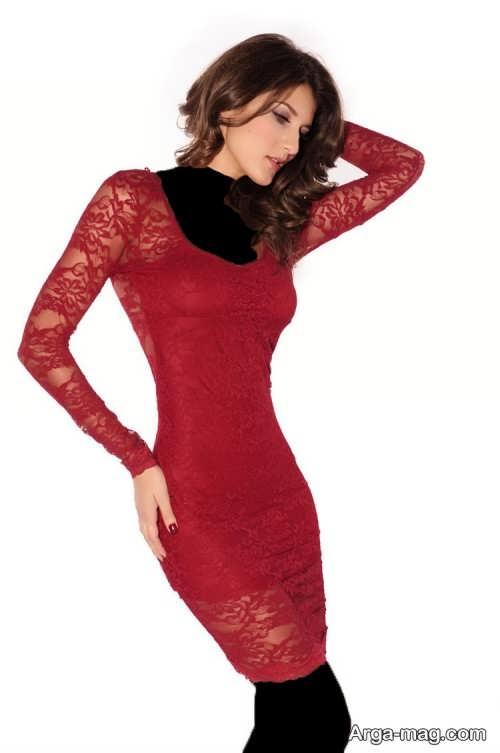 مدل لباس مجلسی کوتاه گیپور دخترانه