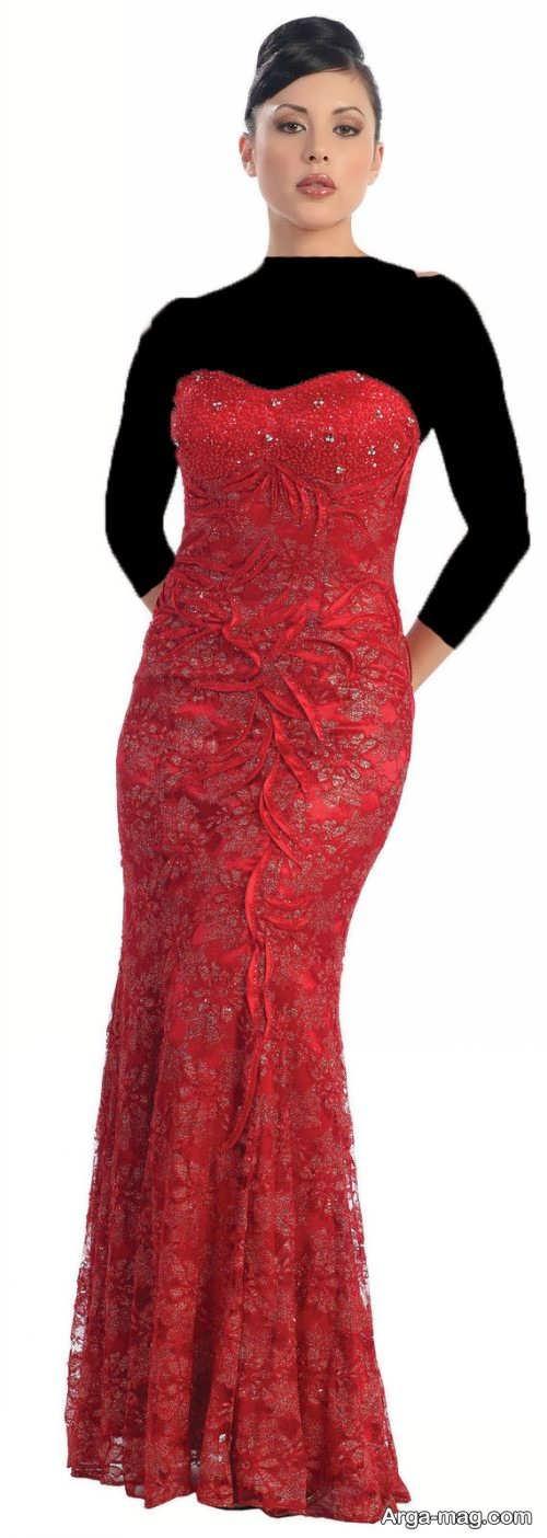مدل لباس مجلسی بلند گیپور