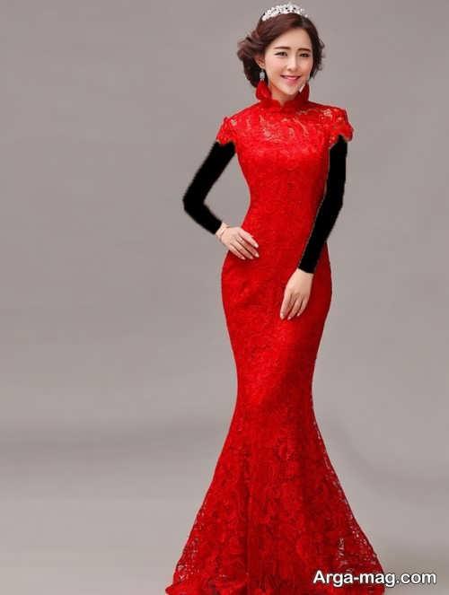 مدل لباس مجلسی کره ای گیپور جدید