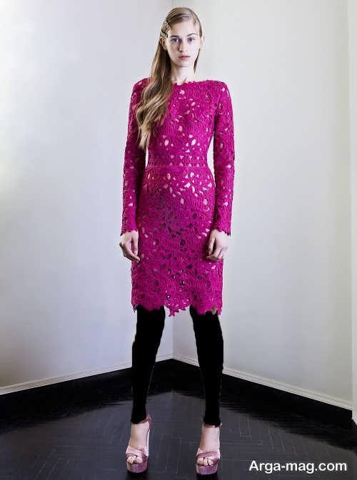 مدل پیراهن مجلسی دخترانه گیپور
