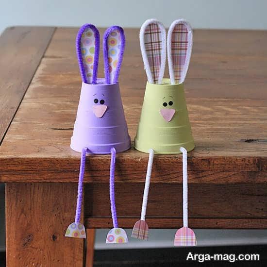 ساخت خرگوش با لیوان