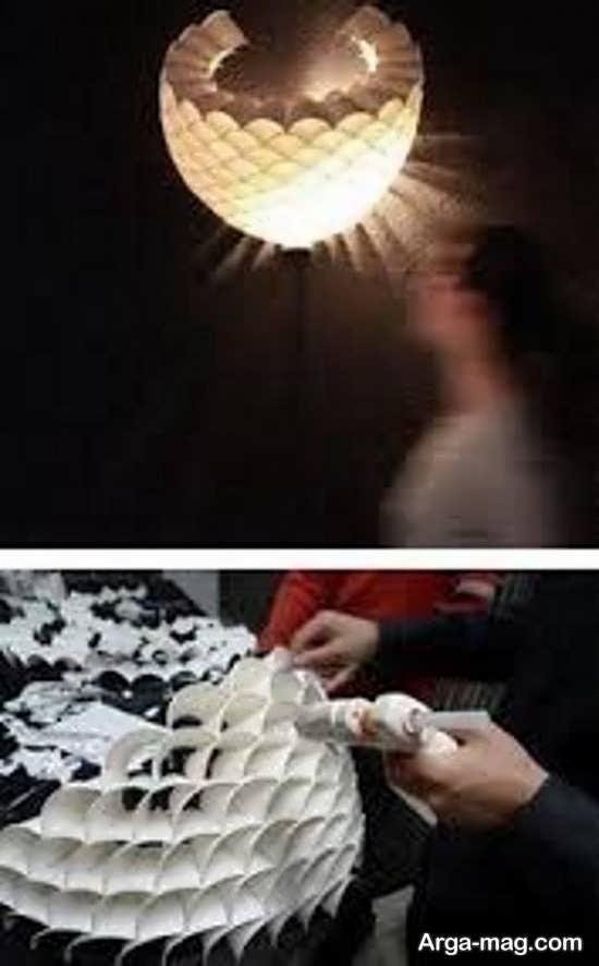 ساخت لوستر زیبا با وسایل دور ریختنی
