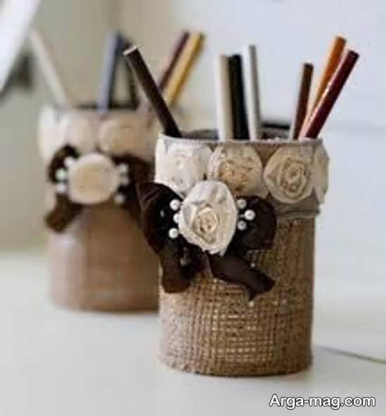 ساخت جا مدادی با لیوان کاغذی