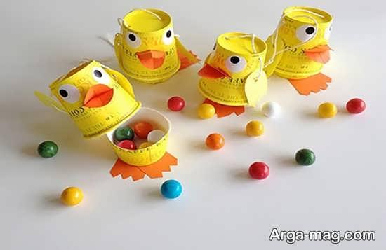 ساخت اردک های بامزه و زیبا با لیوان