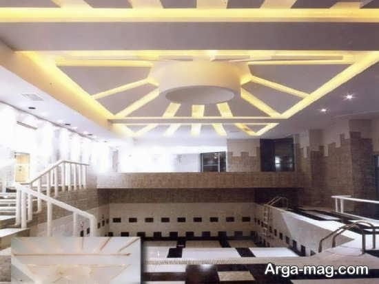 مدل نور پردازی سقفی استخر