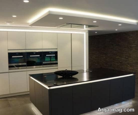 مدل نور مخفی زیبای آشپزخانه