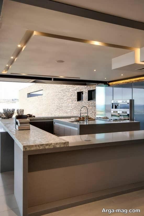 مدل نور مخفی دیدنی آشپزخانه