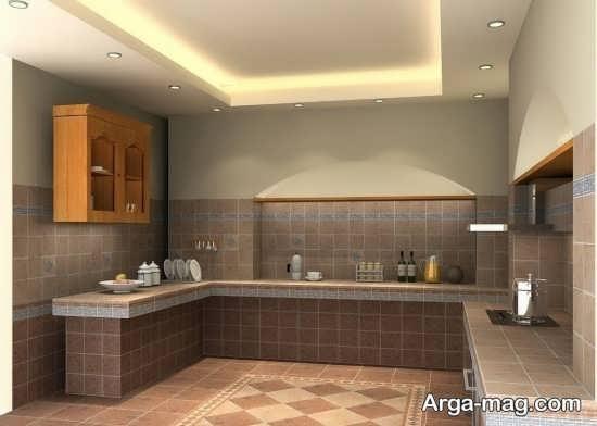 مدل نور مخفی عالی آشپزخانه
