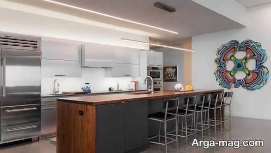 مدل نور مخفی قشنگ آشپزخانه