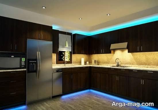 مدلهای جذاب نور مخفی سقف آشپزخانه