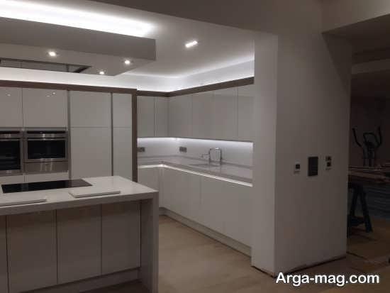 مدل نور مخفی منحصر به فرد آشپزخانه