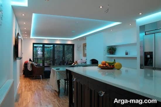 مدل نور مخفی مدرن آشپزخانه