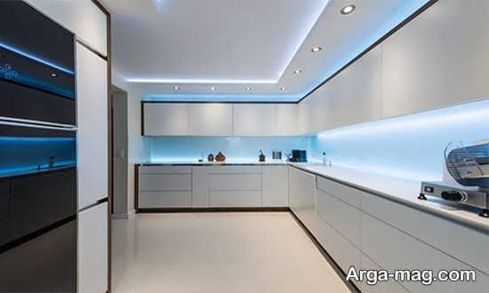 مدل نور مخفی جذاب آشپزخانه