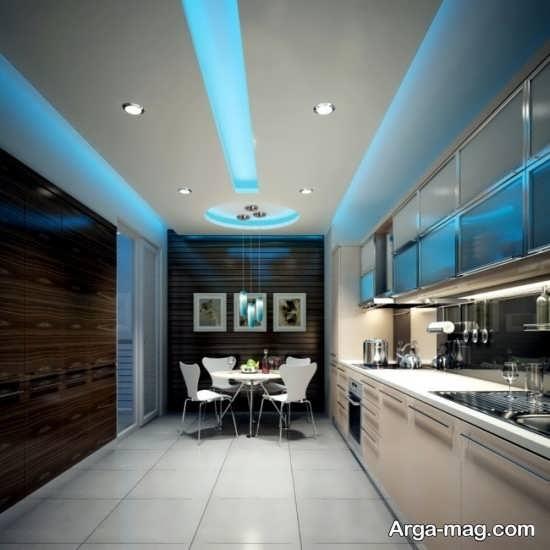 مدلهای دیدنی نور مخفی سقف آشپزخانه