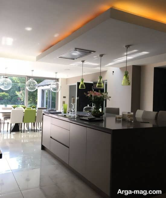 مدلهای لوکس نور مخفی سقف آشپزخانه
