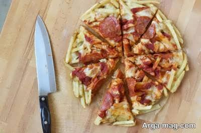 نحوه تهیه سیب زمینی با پنیر پیتزا بدون فر