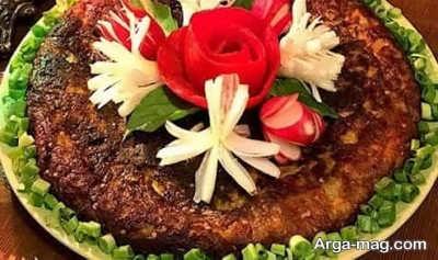 طرز تهیه کوکو گوشت اردبیل
