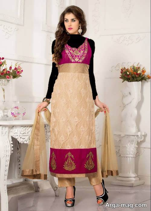 مدل پیراهن بلند پنجابی