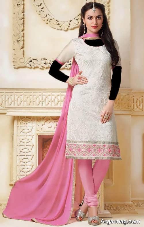 مدل لباس هندی پنجابی طرح دار