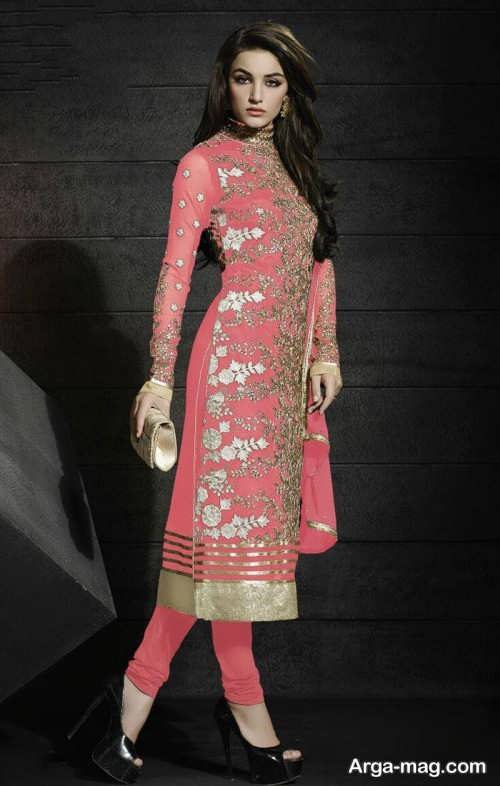 مدل لباس هندی پنجابی طرح دار و شیک