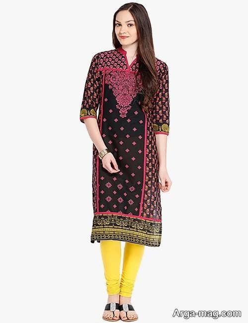 مدل لباس طرح دار هندی پنجابی