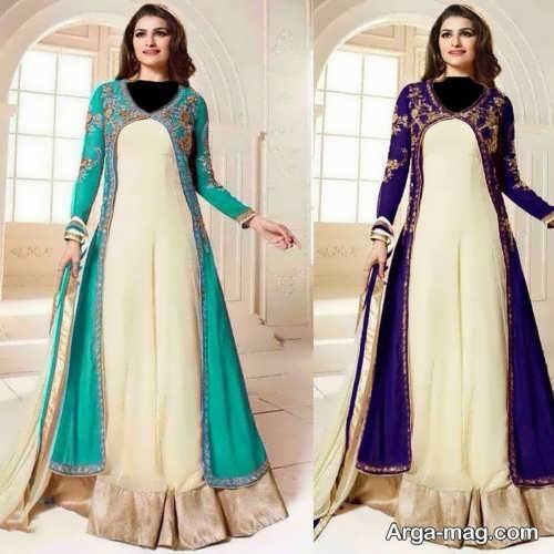 مدل زیبا و شیک لباس هندی بلند