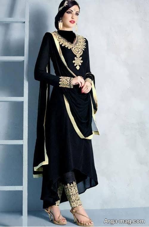 مدل لباس مشکی هندی