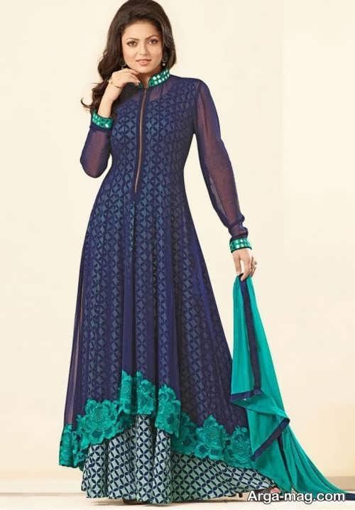 مدل لباس طرح دار هندی