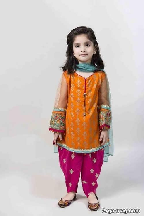 مدل های زیبای لباس هندی بچه گانه