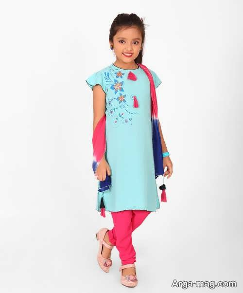 مدل های شیک لباس هندی بچه گانه