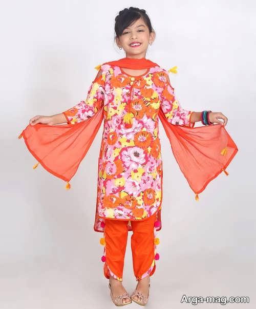 مدل لباس هندی بچه گانه متفاوت