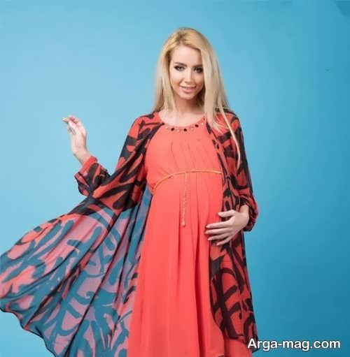 مدلی از لباس بارداری ایرانی