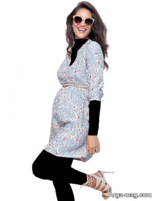 مدل لباس بارداری طرح دار و زیبا